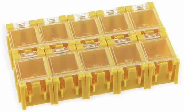 SMD-Container, 10 Stk., anreihbar, gelb - Produktbild 1