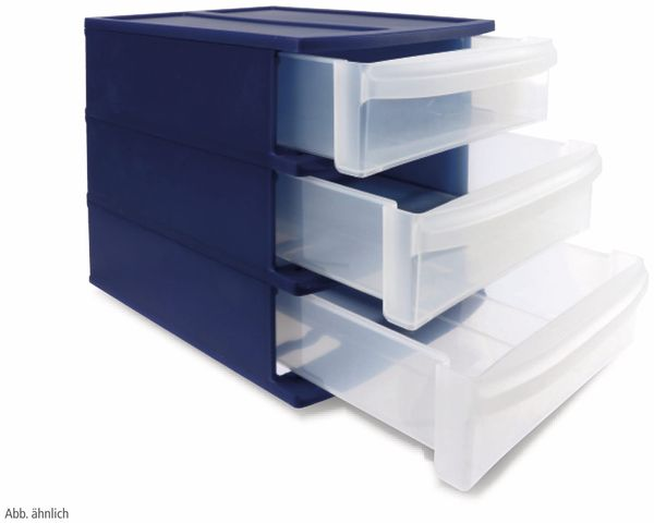 ROTHO SYSTEMIX Tower XS Schubladenbox blau/transparent, 4 Fächer