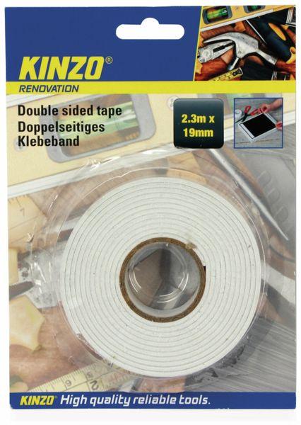 Doppelseitiges Schaumstoffklebeband, KINZO, 19x2300 mm - Produktbild 2