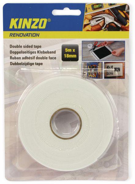 Doppelseitiges Schaumstoffklebeband, KINZO, 18x5000 mm - Produktbild 2