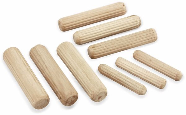 Holzdübel-Set, KINZO, 44-teilig