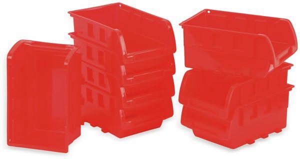 Stapelsichtbox KINZO, 120x100x70 mm, 8 Stück, rot