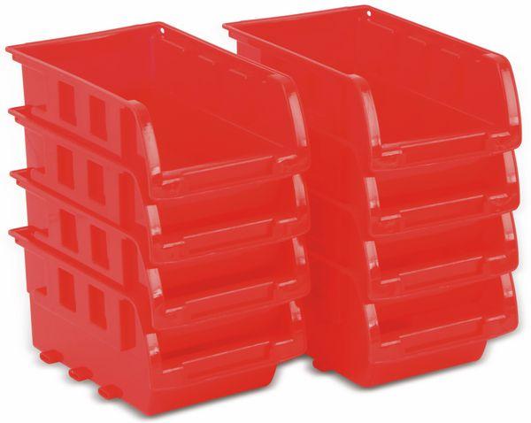 Stapelsichtbox KINZO, 120x100x70 mm, 8 Stück, rot - Produktbild 2