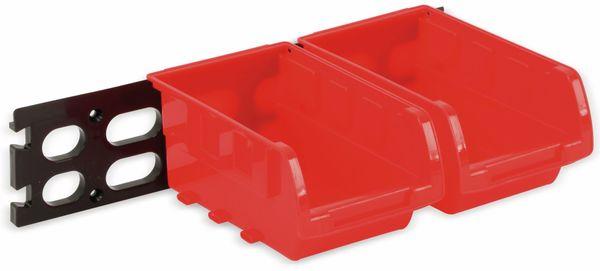 Stapelsichtbox KINZO, 120x100x70 mm, 8 Stück, rot - Produktbild 4