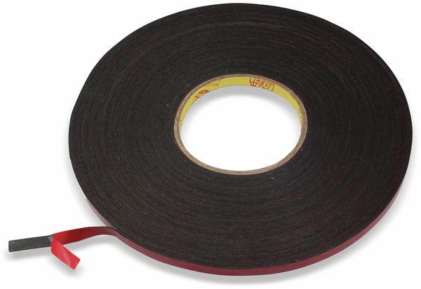 Doppelseitiges Klebeband 6 mm, 30 m, schwarz