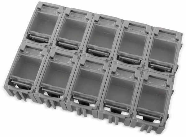 SMD-Container, 39x23,5x18 mm 10 Stk., grau