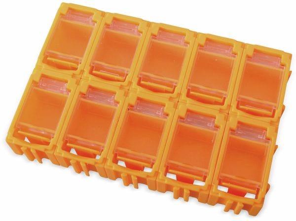 SMD-Container, 39x23,5x18 mm 10 Stk., orange