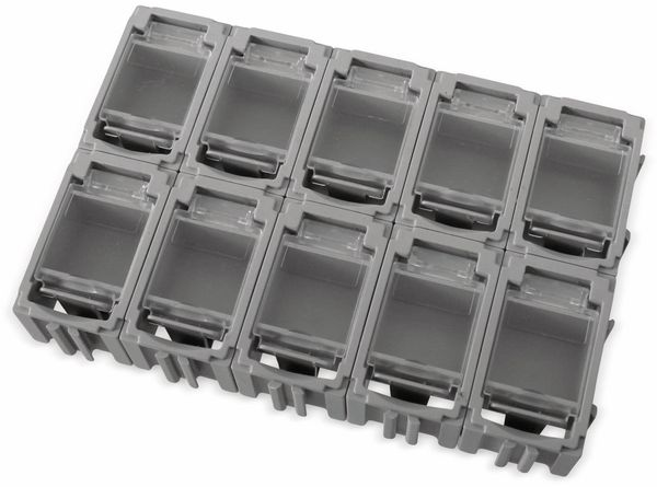 SMD-Container, 45x29,5x22 mm, 10 Stk., grau