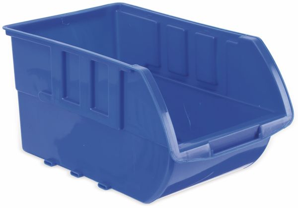 Stapelsichtbox KINZO, 250x150x120 mm, 4 Stück, blau - Produktbild 2