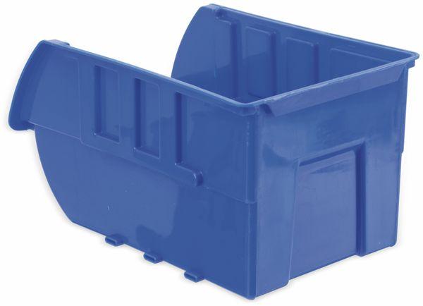Stapelsichtbox KINZO, 250x150x120 mm, 4 Stück, blau - Produktbild 3