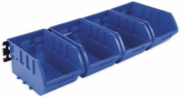 Stapelsichtbox KINZO, 250x150x120 mm, 4 Stück, blau - Produktbild 4