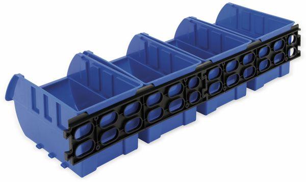 Stapelsichtbox KINZO, 250x150x120 mm, 4 Stück, blau - Produktbild 5