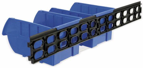 Stapelsichtbox KINZO, 250x150x120 mm, 4 Stück, blau - Produktbild 6