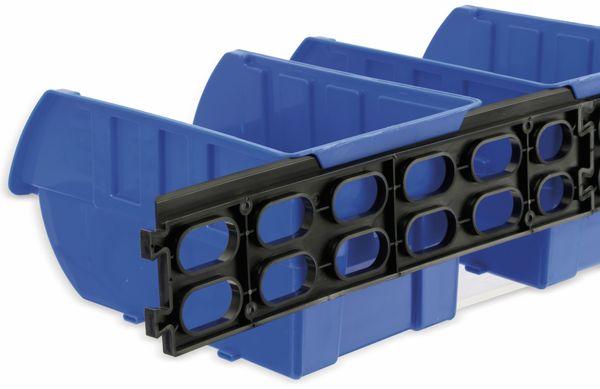 Stapelsichtbox KINZO, 250x150x120 mm, 4 Stück, blau - Produktbild 7