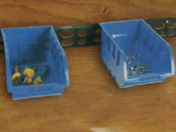 Stapelsichtbox KINZO, 250x150x120 mm, 4 Stück, blau - Produktbild 9