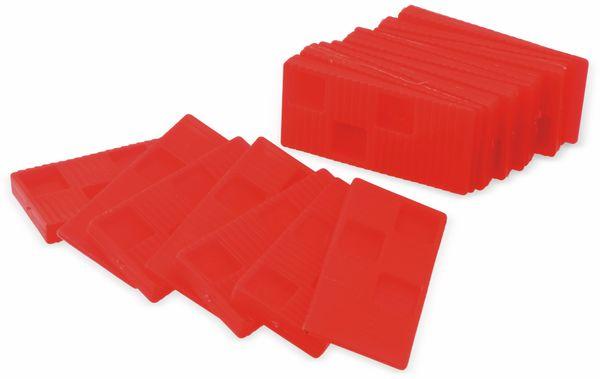 Universal-Montagekeile, Kunststoff, 16 Stück, rot - Produktbild 1