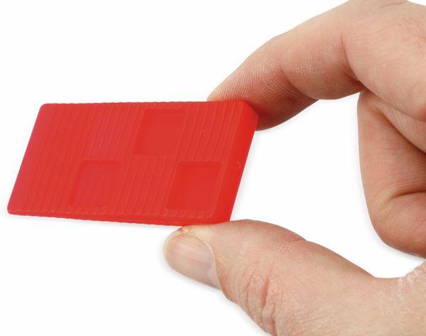 Universal-Montagekeile, Kunststoff, 16 Stück, rot - Produktbild 2