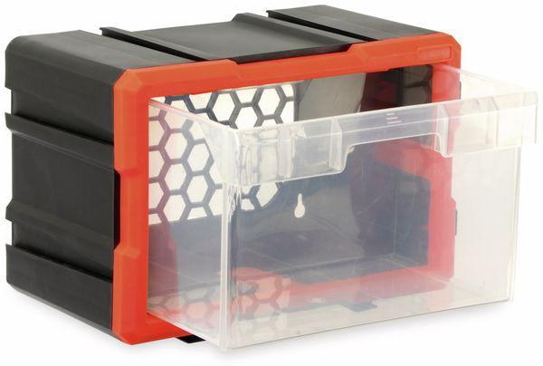 Werkzeugbox DAYTOOLS TW2019, Kunststoff,1-teilig, schwarz/orange - Produktbild 2
