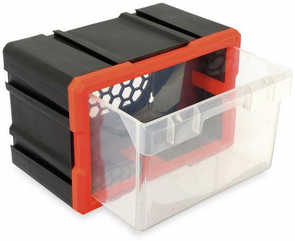 Werkzeugbox DAYTOOLS TW2019, Kunststoff,1-teilig, schwarz/orange - Produktbild 3