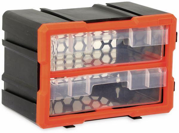 Werkzeugbox DAYTOOLS TW2020, Kunststoff,2-teilig, schwarz/orange