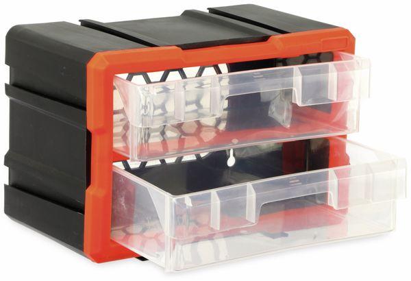 Werkzeugbox DAYTOOLS TW2020, Kunststoff,2-teilig, schwarz/orange - Produktbild 2