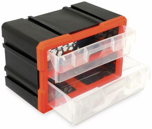 Werkzeugbox DAYTOOLS TW2020, Kunststoff,2-teilig, schwarz/orange - Produktbild 3