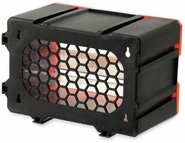 Werkzeugbox DAYTOOLS TW2020, Kunststoff,2-teilig, schwarz/orange - Produktbild 4
