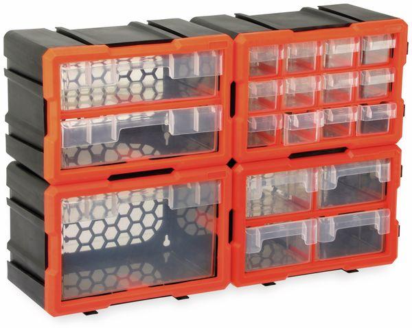 Werkzeugbox DAYTOOLS TW2020, Kunststoff,2-teilig, schwarz/orange - Produktbild 5