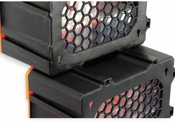 Werkzeugbox DAYTOOLS TW2020, Kunststoff,2-teilig, schwarz/orange - Produktbild 7