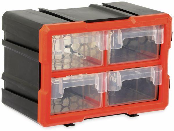 Werkzeugbox DAYTOOLS TW2021, Kunststoff,4-teilig, schwarz/orange