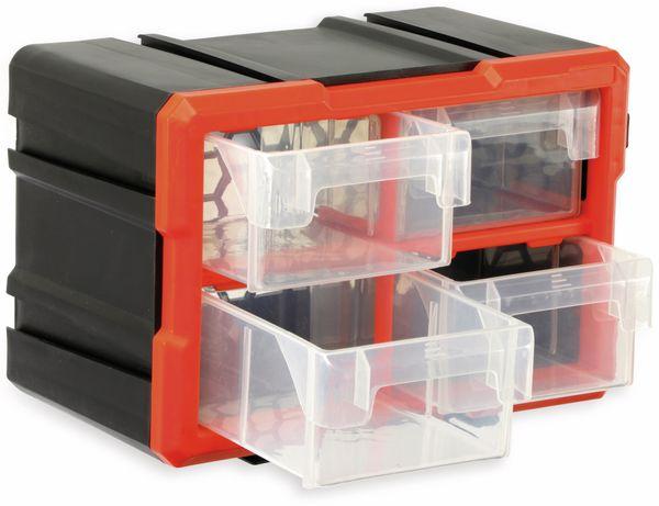 Werkzeugbox DAYTOOLS TW2021, Kunststoff,4-teilig, schwarz/orange - Produktbild 2