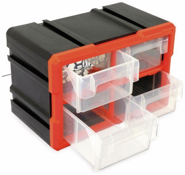 Werkzeugbox DAYTOOLS TW2021, Kunststoff,4-teilig, schwarz/orange - Produktbild 3