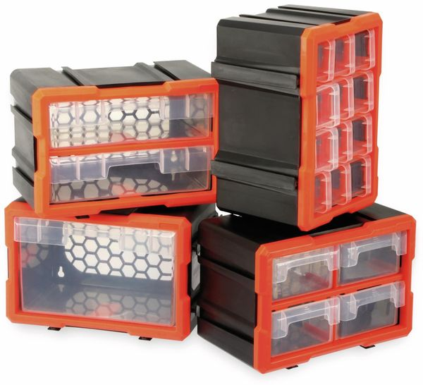 Werkzeugbox DAYTOOLS TW2021, Kunststoff,4-teilig, schwarz/orange - Produktbild 6