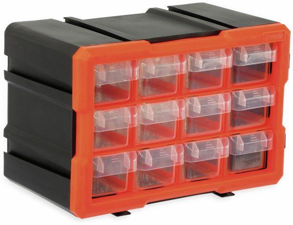 Werkzeugbox DAYTOOLS TW2022, Kunststoff,12-teilig, schwarz/orange