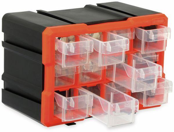 Werkzeugbox DAYTOOLS TW2022, Kunststoff,12-teilig, schwarz/orange - Produktbild 2