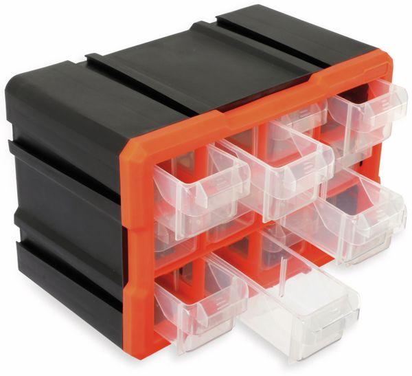 Werkzeugbox DAYTOOLS TW2022, Kunststoff,12-teilig, schwarz/orange - Produktbild 3