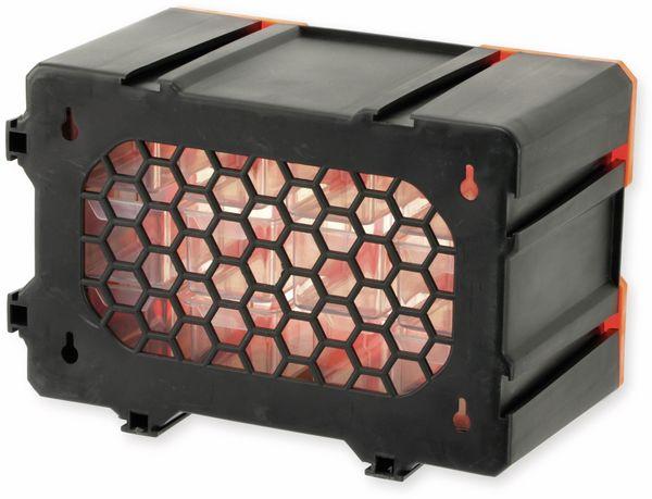 Werkzeugbox DAYTOOLS TW2022, Kunststoff,12-teilig, schwarz/orange - Produktbild 4