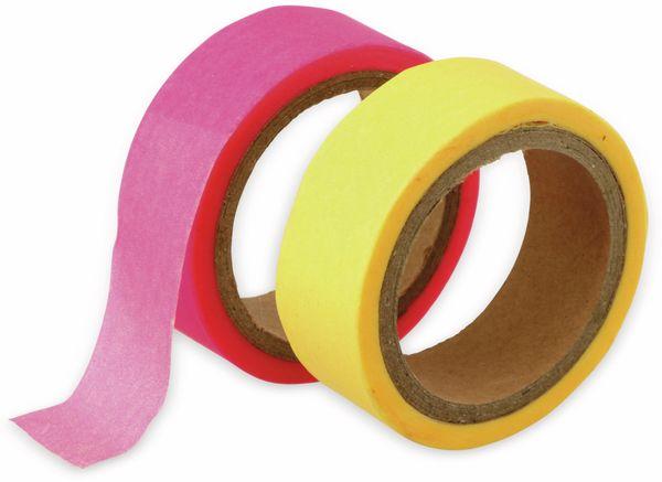 Papierklebeband, Neon, 2 Stück, verschiedene Farben