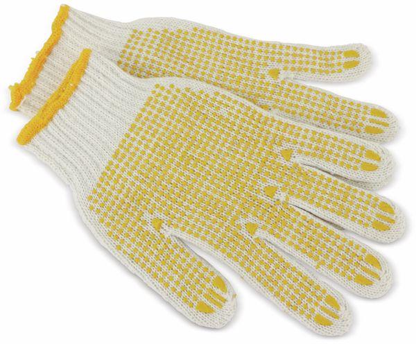 Strick-Arbeitshandschuhe, weiß/gelb, EN420, Größe 10