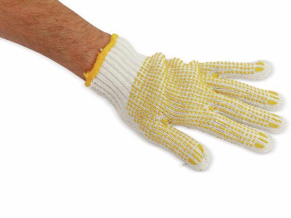 Strick-Arbeitshandschuhe, weiß/gelb, EN420, Größe 10 - Produktbild 2