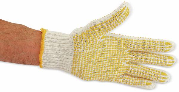 Strick-Arbeitshandschuhe, weiß/gelb, EN420, Größe 10 - Produktbild 3