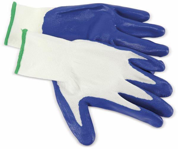Nitril-Arbeitshandschuhe, EN420, Größe 8, blau