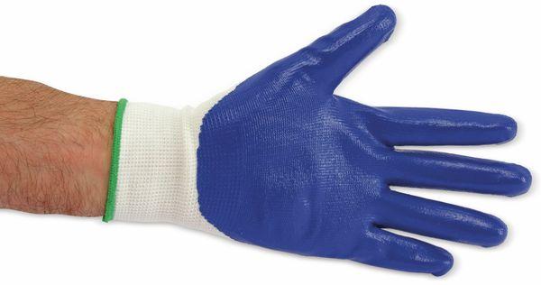 Nitril-Arbeitshandschuhe, EN420, Größe 10, blau - Produktbild 3