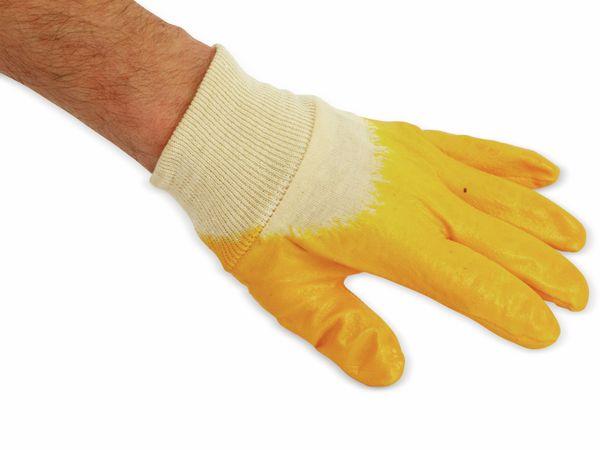 Nitril-Arbeitshandschuhe, EN420, Größe 8, gelb - Produktbild 2