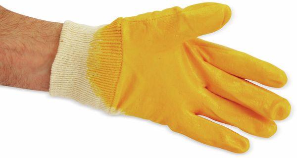Nitril-Arbeitshandschuhe, EN420, Größe 8, gelb - Produktbild 3