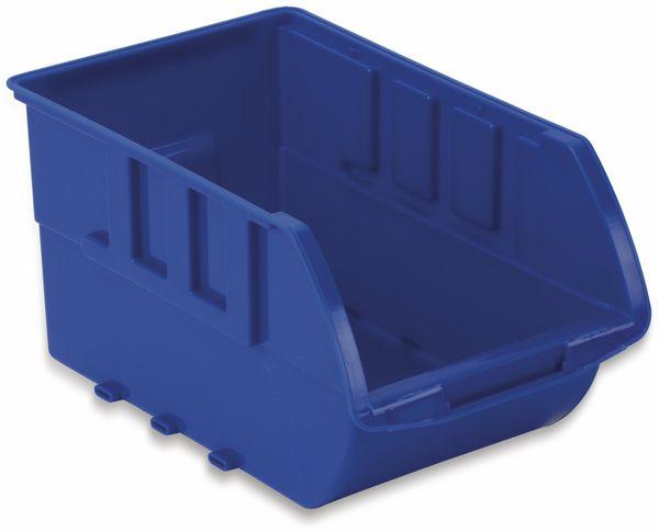 Stapelsichtbox DAYTOOLS RK-1031, 20-teilig, stapelbar, blau/rot - Produktbild 2