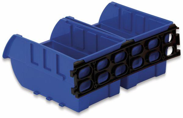 Stapelsichtbox DAYTOOLS RK-1031, 20-teilig, stapelbar, blau/rot - Produktbild 3