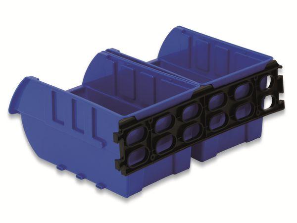 Stapelsichtbox DAYTOOLS RK-1031, 23-teilig, stapelbar, blau/rot - Produktbild 3