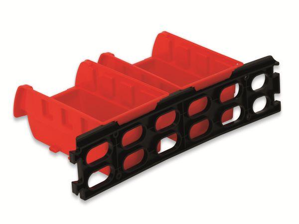 Stapelsichtbox DAYTOOLS RK-1031, 23-teilig, stapelbar, blau/rot - Produktbild 7