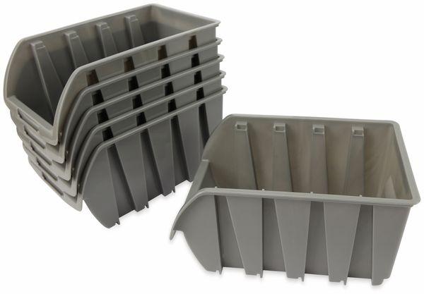 Stapelsichtbox DAYTOOLS RK-1033, 6 Stück, grau, 237x144x125 mm